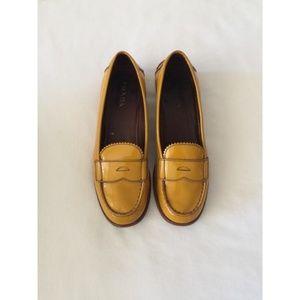 Mustard Yellow Prada Loafers